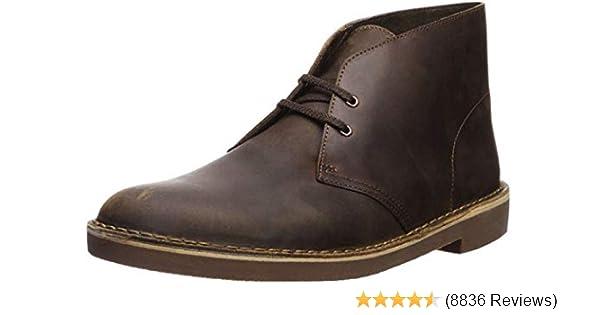 Clarks Originals Men ** DESERT JINK ** Brown Beeswax Lea Shoe ** UK 8,9,10,11 G