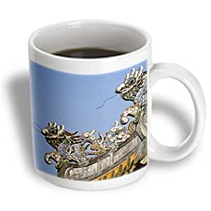 Danita Delimont - Pagodas - Dragon sculpture, Pagoda, Hue, Vietnam-AS38 THA0031 - Tom Haseltine - 15oz Mug (mug_74067_2)