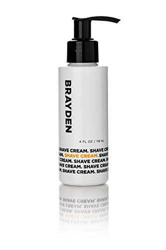 Brayden for Men Shave Cream with Natural Moisturizing Essential Oils and Extracts, Fresh Clean Scent