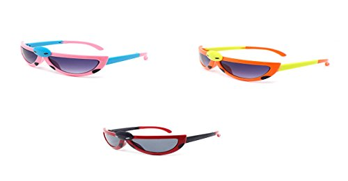 Ultra 3 x Pairs of Mixed Colours 1 Pink 1 Red 1 Orange Childrens Kids Boys Girls Stylish transforming cute bug ladybird Style - Sunglasses Buy Polarised