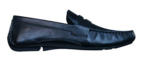 Red Tape Cranfield los hombres del ante de los loafers / Zapatos Black