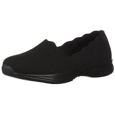 Details about New Womens Skechers Skech Knit Flex Sole Memory Foam Sneakers Black Size 8 11877