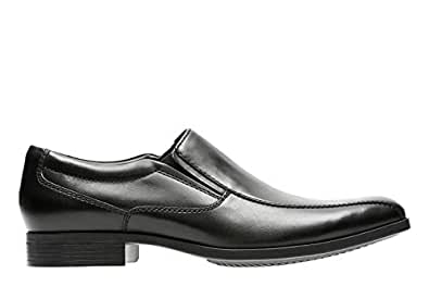 Clarks Conwell Step, Men's Men Shoes, Black (Black Leather), 8 UK (42 EU)