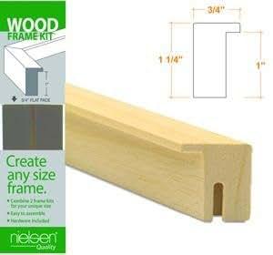 Nielsen Bainbridge Wood Frame Kits natural 30 in.