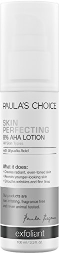 Paula's Choice SKIN PERFECTING 8% AHA Lotion Exfoliant with Glycolic Acid, 3.3 Oz. (1 Bottle), Leave-On Gentle Chemical Exfoliant for Normal, Dry, Oily and Combination Skin Aha Body Smoothing Lotion