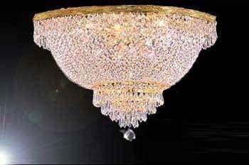 French Empire Crystal Semi Flush Chandelier Chandeliers Lighting H18 X W24