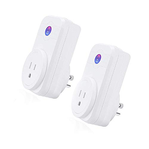 LINGANZH Smart Plug,WIFI Timing Switch Power Monitoring Smart Socket,Compatible with Alexa (Smart WI-FI Plug(2-pack)) by LINGANZH