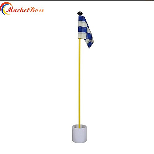 "MarketBoss 33"" Backyard Practice Golf Green Flag FlagStick P"