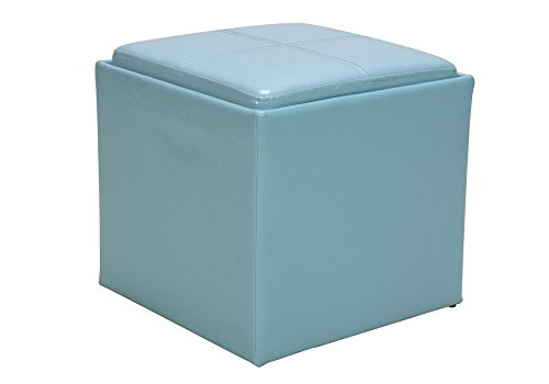Blue ottomans storage coffee table more for Accents salon bellingham