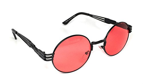 WebDeals - Round Metal Steampunk Sunglasses 4