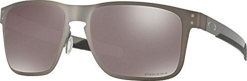 Oakley Holbrook Metal Polarized Iridium Square Sunglasses, Matte Gunmetal with Prizm Black Polarized, 55 mm by Oakley