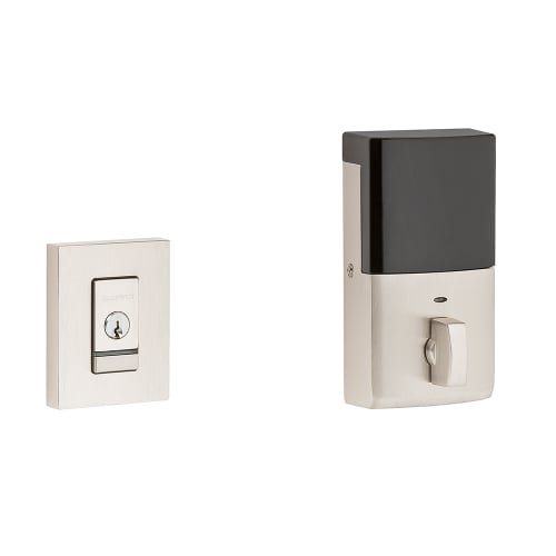 ed Contemporary Single Cylinder Deadbolt with Bluetooth Tech, Lifetime Satin Nickel (Baldwin Hardware Contemporary Series)