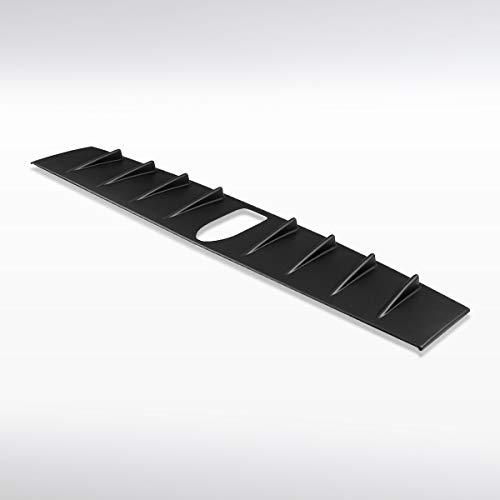Autozensation For Subaru WRX STI Matte Black Shark Fin Roof Spoiler Vortex Generator