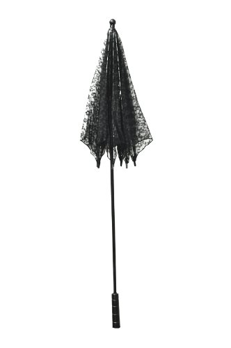 Vintage Style Parasols and Umbrellas  Parasol Lace Black $17.46 AT vintagedancer.com