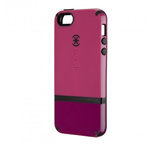 Speck Products CandyShell Flip Dockable Case for iPhone 5/5S/SE - Raspberry Pink/Dark Raspberry/Black (Iphone Case Flip Speck 5s)