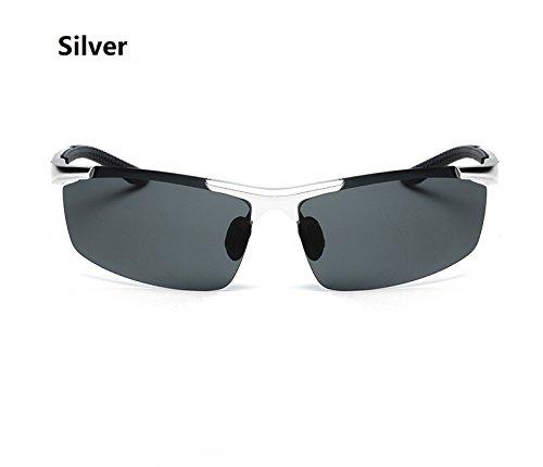 Silver Hommes Yumeik Soleil Sport polarisées Lunettes Lunettes magnésium de Silver Color d'aluminium Cyclisme Lunettes de Alliage de rwqO1rXxZ