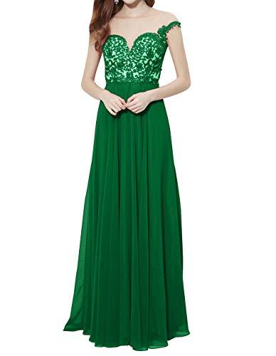 Neu Abendkleider mia Brautmutterkleider La Promkleider Braut Elegant Grün Partykleider Lang Durchsichtig 2018 Festlichkleider Spitze 6Y4nvxY