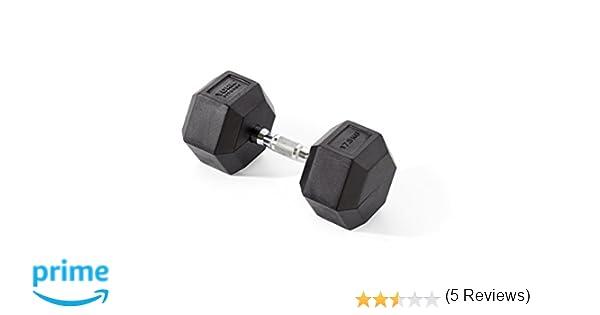 York Fitness, Pesas Hexagonales De Caucho, Negro, 2 X 7.5Kg (Par de 2): Amazon.es: Deportes y aire libre