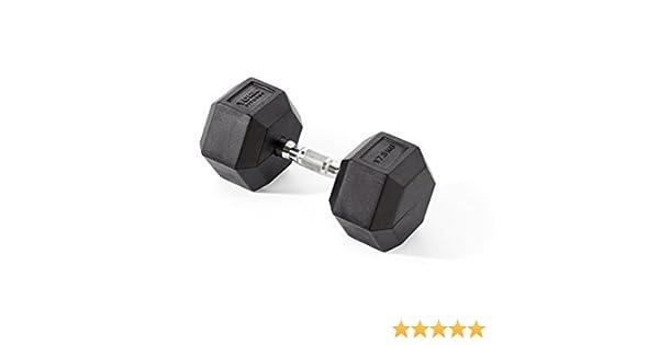 York Fitness, Pesas Hexagonales De Caucho, Negro, 1 X 22.5Kg: Amazon.es: Deportes y aire libre