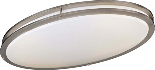 Minka Lavery Flush Mount Ceiling Light 863-84-PL Linear Fixture, 2 Light, 44 Watts Fluorescent, Nickel