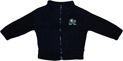 Fleece Notre Dame Irish Jacket - Creative Knitwear University of Notre Dame Fighting Irish Baby Polar Fleece Jacket Navy