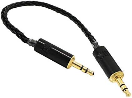 3.5mmオス〜3.5mmオス アダプタ コア オーディオ ケーブル HIfi MP3用 耐久性