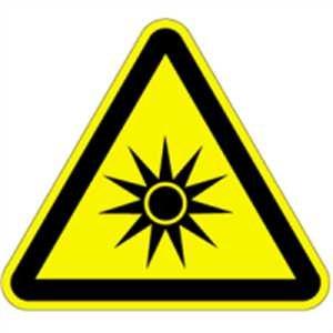 Aufkleber Warnung vor optischer Strahlung 5cm sl Folie Bogen = 6 St/ück
