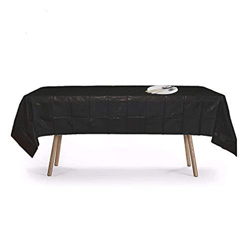 Black Disposable Plastic Tablecloth 54