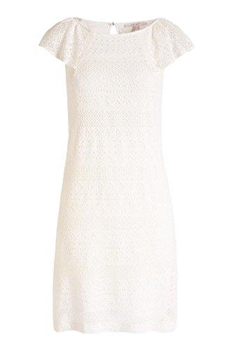 046ee1e009 Robe Esprit Femme Écru Uni Courtes White Manches off 5dwZRw