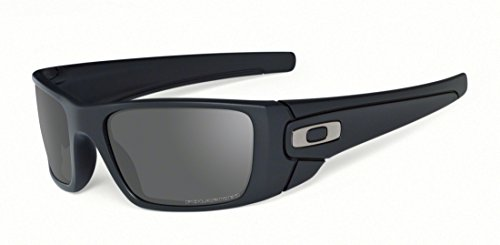 Oakley Men's Fuel Cell Polarized Sunglasses,Matte Black Frame/Grey Lens