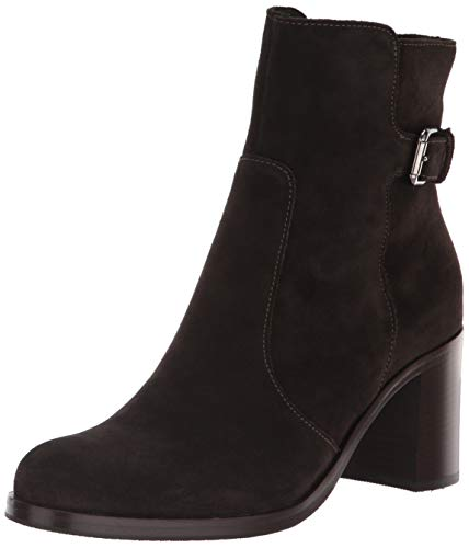 La Canadienne Suede Wedges - La Canadienne Women's Bettina Ankle Boot,Black,9.5 M US