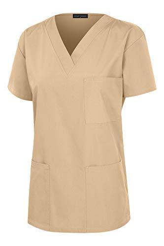 26b0b720793 SHOP TIRZAH Women's Uniform Scrub Sets Medical Scrubs V-Neck Top and Slim  Fit Pants