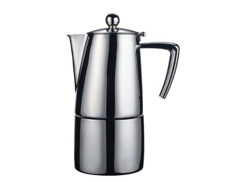Ilsa Slancio 0091 S10 – Cafetera italiana (acero inoxidable, mate, para 10 tazas)