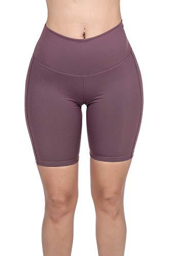 Nihoe Womens Active Fitness Yoga Running Shorts (Medium, NI1127 Dusty Rose)