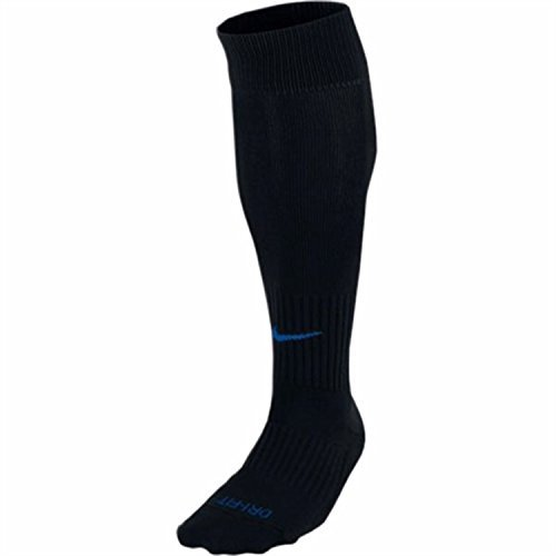 Nike Men`s Classic Cushioned Soccer Socks (Medium, Black/Royal)