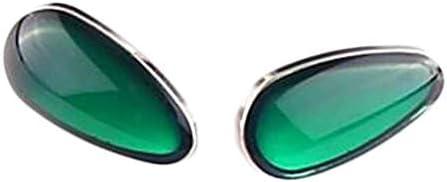 3ペアスクリューインプラスチック眼鏡ノーズパッドイミテーションジュエリーグラスノーズパッド眼鏡修理、グリーン
