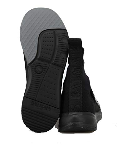 Zapatillas Mujer W8fc143pczs176 Negro Balmain Altas Tela w6vIqTU7T