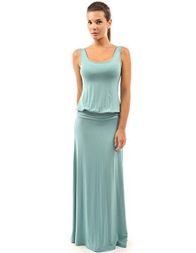PattyBoutik Womens Sleeveless Blouson Maxi Dress
