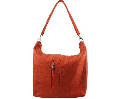 Sac sac Foncé A sac Plusieurs Main Cuir Femme Even sac cuir Coloris Sac De Chloly Orange sac Femme Pour 75OUqw4Fxn