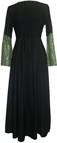 Renaissance DR Green Gothic Traders Dress Gown Agan Black 007 Medieval Vampire qAUxYfw