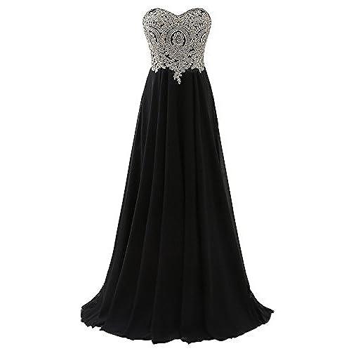 Black Strapless Prom Dress: Amazon.com