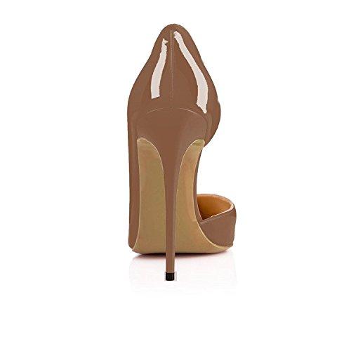 Ja Nansay Ruskea Taivas Suurikokoinen Teräväkärkiset Pumput Kaksiosaiset Hyvät Korkokengät Kengät D'orsay Stiletto Naisten rq70Sr