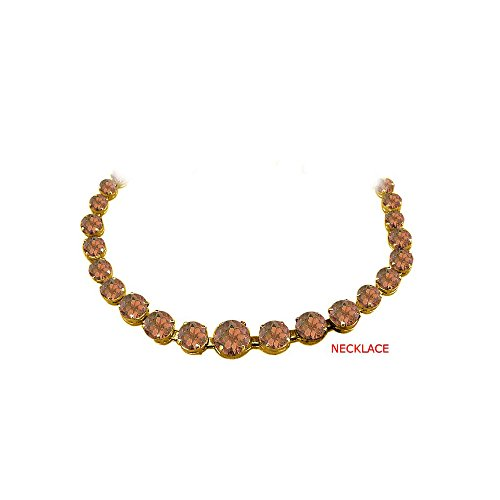 Smoky Quartz Graduated Necklace 18K Yellow Gold Vermeil ()