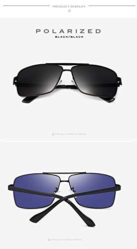 de Estilo Moda de UV400 Metal de para de polarizadas Sol de Trend Sol 1 Gafas Sol Gafas Gafas 1 de recubiertas Hombres Box Ruiyue Color HxTwOqaq
