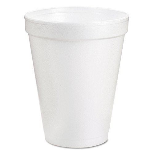 Insulated Styrofoam Cup, 8 Oz, 1000/CT, White by DART