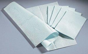 TIDI Towels/Bibs, 3 Ply Tissue + Poly, 13'' X 18'', White, 500 Per Case
