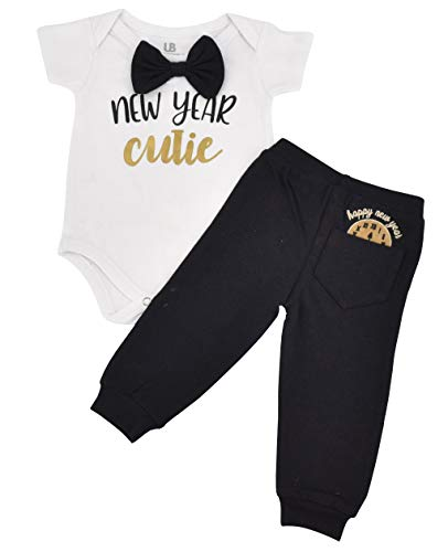 Unique Baby Boys New Year Cutie New Years Outfit Layette Set (18 Months)