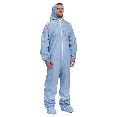 West Chester 3109/XL Posi FR Coverall Hood, Boot, Elastic Wrist & Ankle, XL, Blue (Box of 25) by West Chester (Image #4)