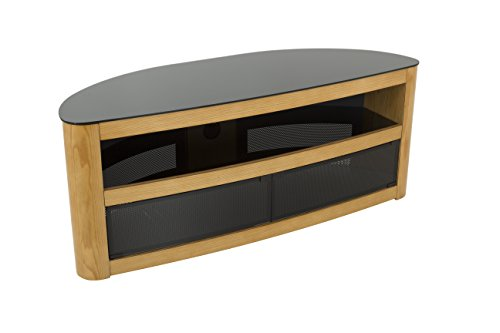 AVF Affinity Plus - Burghley Plus 1250 Curved TV Stand (Oak/Black - Stand Technology Wood Tv Oak