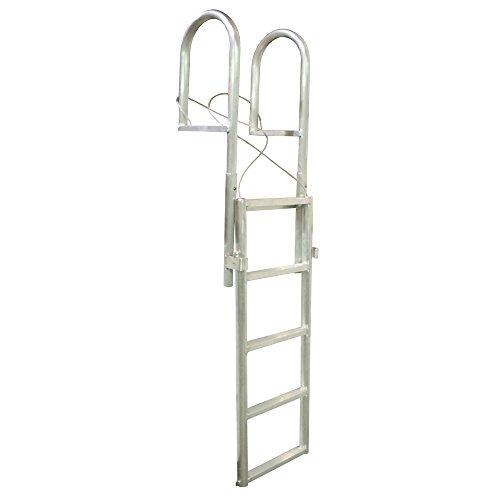 (Dock Edge Dock Ladder, 5 - Step, Slide Up, Welded- Aluminum)
